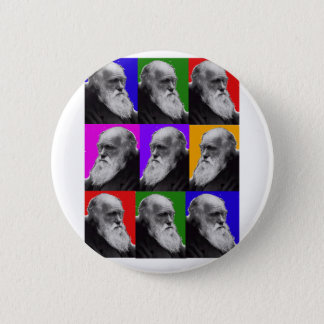 Charles Darwin Pop Art Gifts for All Ages 6 Cm Round Badge