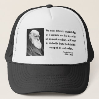 Charles Darwin Quote 1b Trucker Hat
