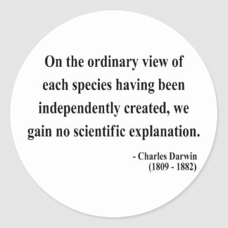 Charles Darwin Quote 3a Classic Round Sticker