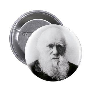 Charles Darwin Vignette 6 Cm Round Badge