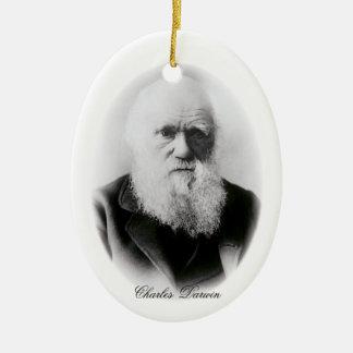 Charles Darwin Vignette Ceramic Ornament