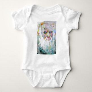 charles darwin - watercolor portrait baby bodysuit