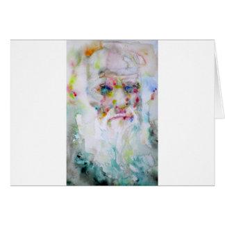 charles darwin - watercolor portrait card