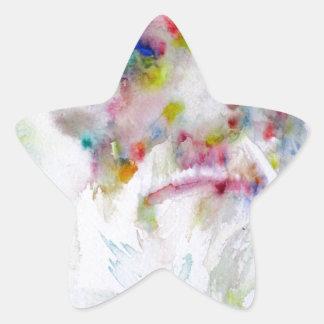 charles darwin - watercolor portrait star sticker