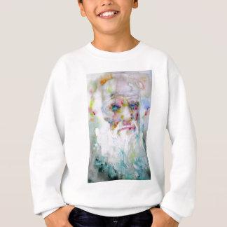 charles darwin - watercolor portrait sweatshirt