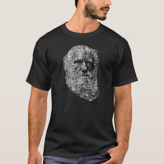 Charles Darwin Word Face T-Shirt
