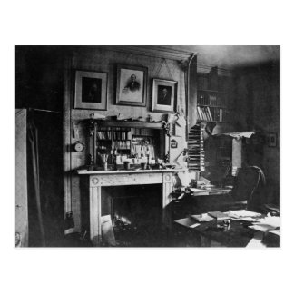 Charles Darwin's study at Down House Postcard