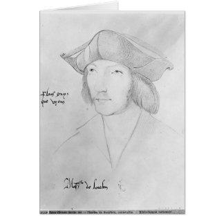 Charles de Bourbon  16th century Greeting Card