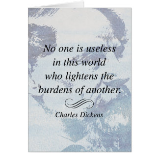 Charles Dickens on Helping Others Quote Card