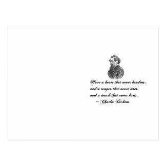 Charles Dickens Our Mutual Friend quote Postcard