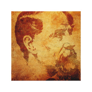 Charles Dickens vintage style side-view portrait Canvas Print
