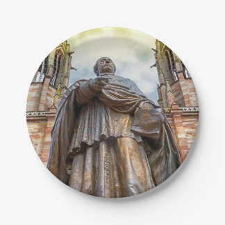 Charles-Emile Freppel statue, Obernai, France 7 Inch Paper Plate