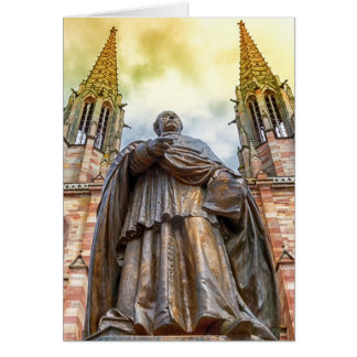 Charles-Emile Freppel statue, Obernai, France Card