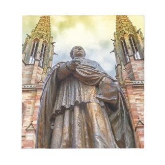 Charles-Emile Freppel statue, Obernai, France Notepad