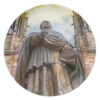 Charles-Emile Freppel statue, Obernai, France Plate