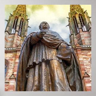 Charles-Emile Freppel statue, Obernai, France Poster