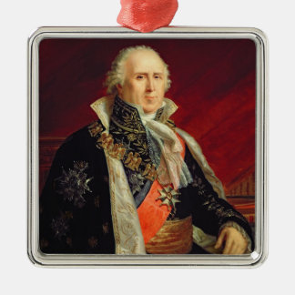 Charles-Francois Lebrun  Duke of Plaisance Silver-Colored Square Decoration