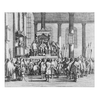 Charles II  Crowned at Scone, 1651 Poster