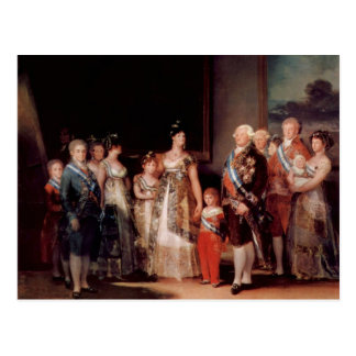 Charles IV of Spain and His Family - Goya Postcard
