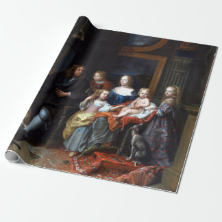Charles Le Brun Everhard Jabach and His Family Wrapping Paper