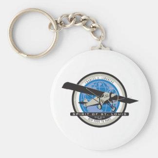 Charles Linberg Historic Flight Key Chain