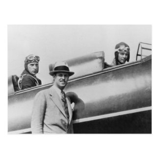 Charles Lindbergh and Fred Weick Postcard