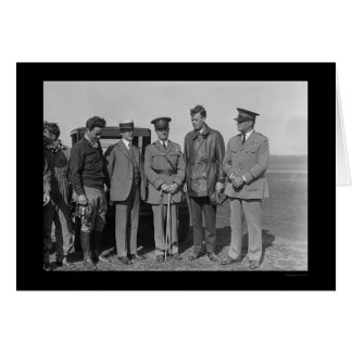 Charles Lindbergh and Orville Wright 1927 Card
