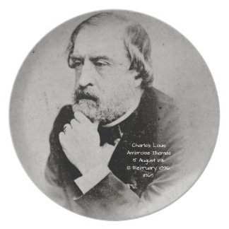 charles Louis Ambroise Thomas 1865 Plate