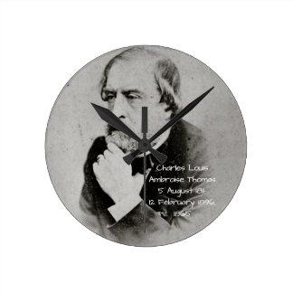 charles Louis Ambroise Thomas 1865 Round Clock