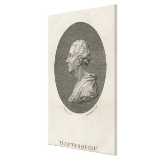Charles Louis de Secondat, Baron de Montesquieu Canvas Prints
