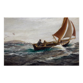 Charles Napier Hemy With Wind and Tide Poster