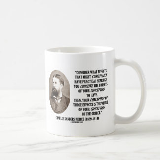 Charles Sanders Peirce Effects Objects Conception Coffee Mug