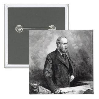 Charles Stewart Parnell 15 Cm Square Badge