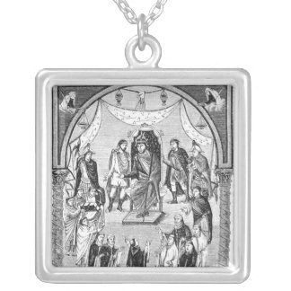 Charles the Bald, King of France Silver Plated Necklace