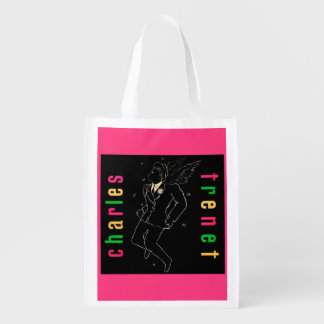 Charles Trenet Reusable Grocery Bag