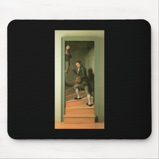 Charles Willson Peale The Staircase Group Mousepads