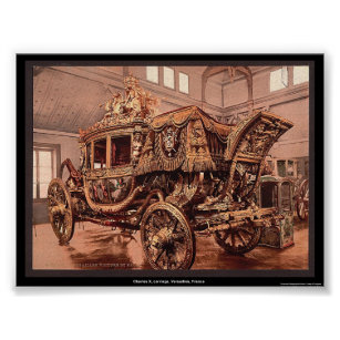 Charles X, carriage, Versailles, France Poster