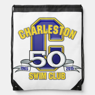 Charleston 50th Anniversary Logo Backback Drawstring Bag