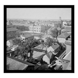 Charleston and The Citadel from Orphanage 1865 Poster