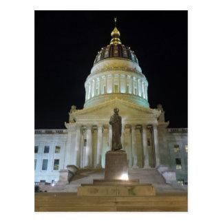 Charleston Capitol at Night Postcard