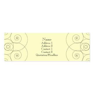 Charleston - Cream Business Card Templates