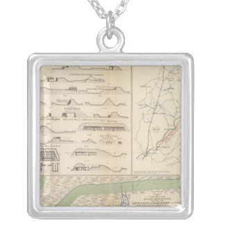 Charleston Harbor, Army of the Potomac operations Silver Plated Necklace