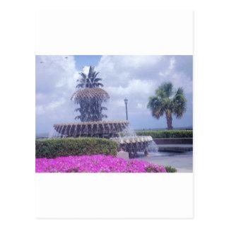 Charleston Pineapple Fountain Post Card