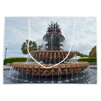 Charleston Pineapple Fountain, South Carolina Large Gift Bag