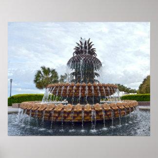 Charleston Pineapple Fountain, South Carolina Poster