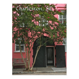 Charleston Pink House Post Card