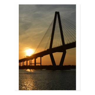 Charleston Ravenel Bridge Sunset Postcard
