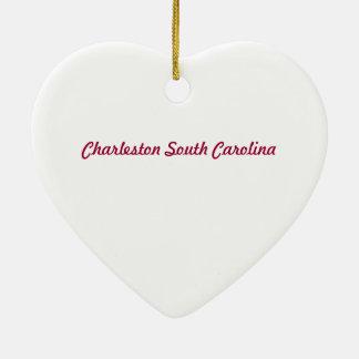 Charleston SC Heart Ornament