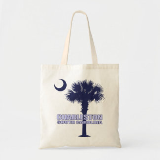 Charleston SC (Palmetto & Crescent) Tote Bag
