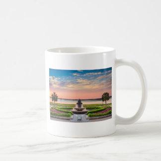 Charleston SC Pineapple Fountain Sunrise Coffee Mug